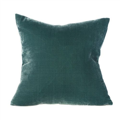 Silk Velvet Cushion  - Teal